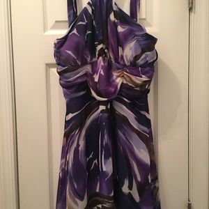 Purple Multicolor Georgette dress